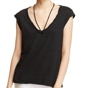 Pam & Gela White Strap Neck T- Shirt *Medium